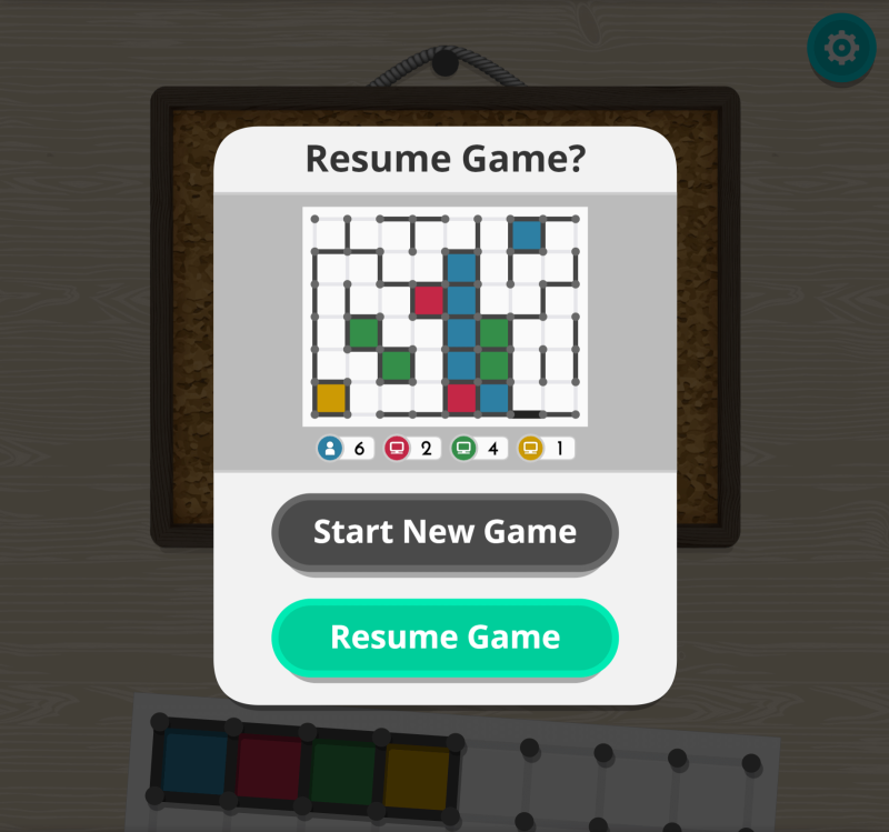 """dots and boxes resume game screen"" title=""dots and boxes resume game screen"""